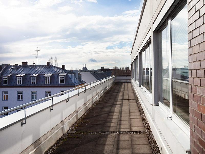 BAGHUS München, Blick von der Dachterrasse