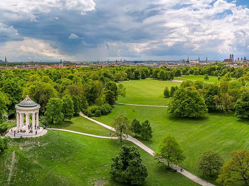 """Der Englische Garten, die """"grüne Lunge"""" von München"""