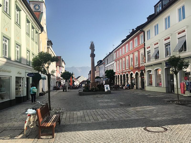 Fußgängerzone Murnau am Staffelsee
