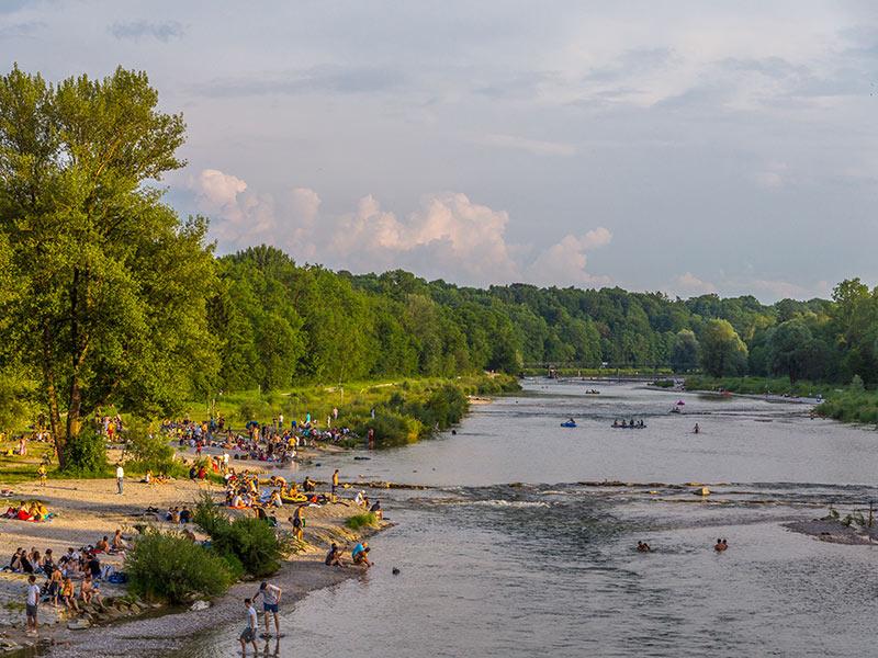Die Isar in München, Wildflussromantik mitten in der Stadt